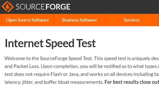 sourceforge speed test(ソースフォージ)の使い方や結果の目安